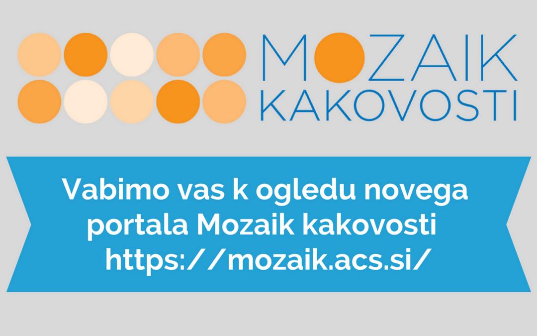 Nov spletni portal Mozaik kakovosti